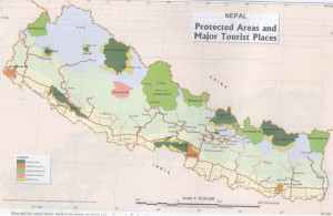 Major Tourist Places & Protect Areas in Nepal