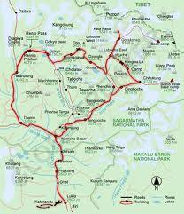 Gokyo Trekking Map